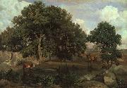 Jean Baptiste Camille  Corot Forest of Fontainebleau USA oil painting reproduction