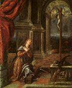 St.Catherine of Alexandria at Prayer,  Titian