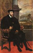 Charles V, Seated,  Titian