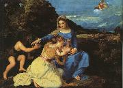Madonna and Child with the Young St.John the Baptist St.Catherine,  Titian