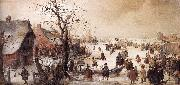AVERCAMP, Hendrick Winter Scene on a Canal  ggg oil painting on canvas