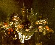 Abraham Hendrickz van Beyeren Banquet Still Life USA oil painting reproduction