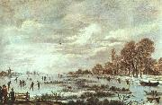 Aert van der Neer Winter Landscape oil painting reproduction
