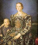 Agnolo Bronzino Eleanora di Toledo with her son Giovanni de' Medici oil painting
