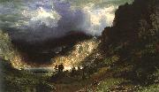Albert Bierstadt Storm in the Rocky Mountains, Mt Rosalie oil painting artist