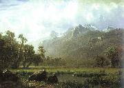 Albert Bierstadt The Sierras near Lake Tahoe, California oil painting artist