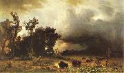 Albert Bierstadt Buffalo Trail oil painting reproduction