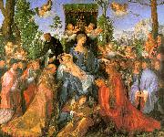 Albrecht Durer Altarpiece of the Rose Garlands oil painting