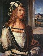 Albrecht Durer Self Portrait with Gloves oil painting artist