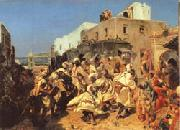 Alfred Dehodencq Blacks Dancing in Tangiers oil painting artist