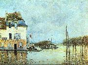 Alfred Sisley Flood at Pont-Marley oil painting artist
