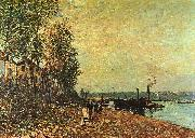 Alfred Sisley The Tugboat oil painting artist