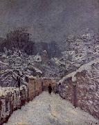 Alfred Sisley Snow at Louveciennes oil painting artist