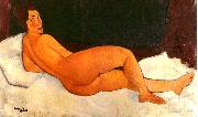 Amedeo Modigliani Nude, Looking Over Her Right Shoulder oil painting artist
