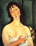 Portrait of a yound woman (Ragazza), Amedeo Modigliani