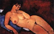 Nude on a Blue Cushion, Amedeo Modigliani