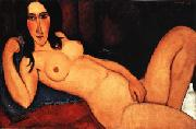 Reclining Nude with Loose Hair, Amedeo Modigliani