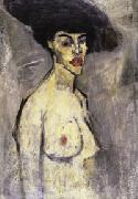 Nude with a Hat (recto)