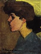 Head of a Woman in Profile, Amedeo Modigliani
