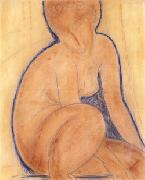 Crouched Nude, Amedeo Modigliani
