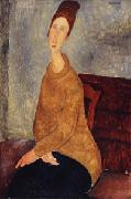 Amedeo Modigliani Jeanne Hebuterne with Yellow Sweater oil painting on canvas