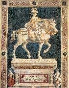 Andrea del Castagno Monument to Niccolo  da Tolentino oil painting reproduction