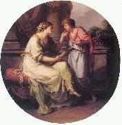 Angelica Kauffmann Papirius Pratextatus Entreated by his Mother to Disclose the Secrets of the Deliberations of the Rom oil painting