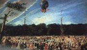Antonio  Carnicero Balloon Ascent at Aranjuez USA oil painting reproduction