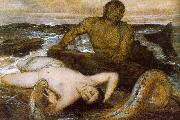 Arnold Bocklin Triton and Nereid USA oil painting reproduction