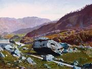 Atkinson Grimshaw Bowder Stone, Borrowdale oil painting