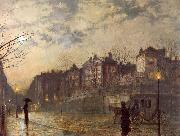 Atkinson Grimshaw Hampstead oil painting