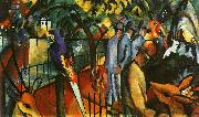 August Macke Zoological Garden I oil painting reproduction