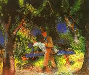 Man Reading in a Park, August Macke