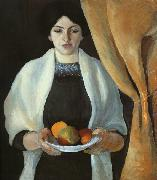 Portrait with Apples : Wife of the Artist, August Macke
