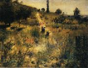 Auguste renoir Road Rising into Deep Grass