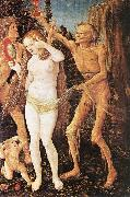 BALDUNG GRIEN, Hans Three Ages of the Woman and the Death  rt4 oil painting reproduction