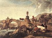 Italian Landscape with Bridge  ddd
