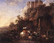 Rocky Landscape with Antique Ruins
