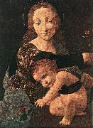 Virgin and Child with a Flower Vase (detail)