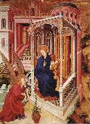 BROEDERLAM, Melchior The Annunciation qow oil painting on canvas