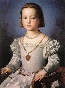 BRONZINO, Agnolo Bia, The Illegitimate Daughter of Cosimo I de  Medici oil painting reproduction