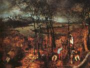 BRUEGEL, Pieter the Elder Gloomy Day gfh oil painting reproduction