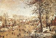 Winter Landscape with a Bird-trap, BRUEGHEL, Pieter the Younger