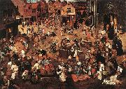 Battle of Carnival and Lent f, BRUEGHEL, Pieter the Younger
