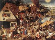 Proverbs fd, BRUEGHEL, Pieter the Younger