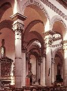 BRUNELLESCHI, Filippo Interior of the church g oil painting reproduction