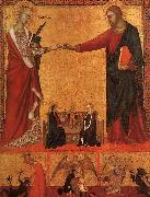 Barna da Siena The Mystical Marriage of St.Catherine oil painting