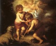 Bartolome Esteban Murillo The Holy Children with a Shell oil painting artist