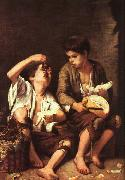 Bartolome Esteban Murillo Boys Eating Fruit oil painting artist