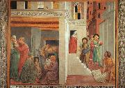 The Birth of St.Francis and Homage of the Simple Man, Benozzo Gozzoli
